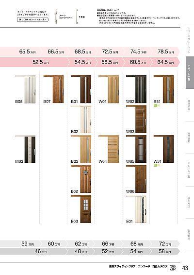 断熱スライディングドア コンコード 商品カタログ カタログビュー スライディングドア コンコード スライディング