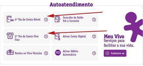2ª Via De Conta Vivo Movel Fixo Tv E Internet Conta Viver