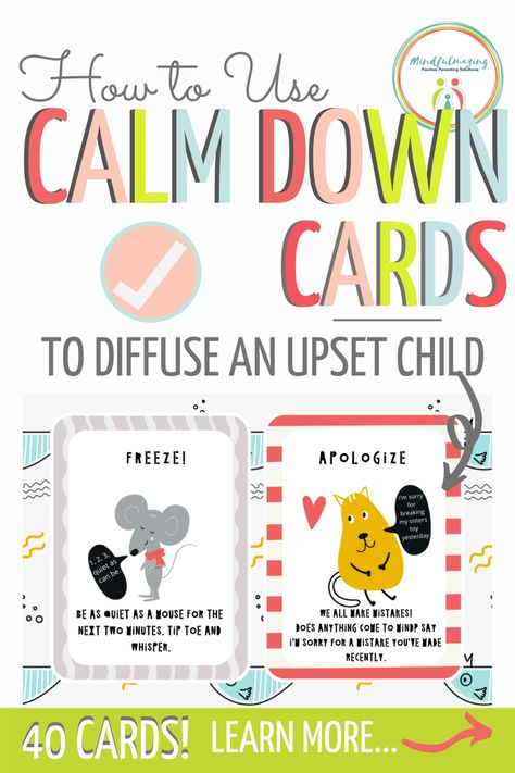 How to Use Calm Down Cards In Your Calming Space For Kids