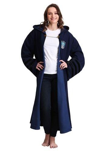 Ladies Ravenclaw Bathrobe Harry Potter Fleece Dressing Gown