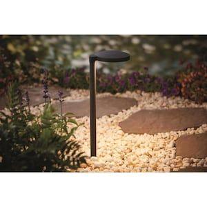 Portfolio 3 5 Watt Black Low Voltage Hardwired Integrated Led Path Light At Lowes Com Path Lights Hardwired Adjustable Lamps