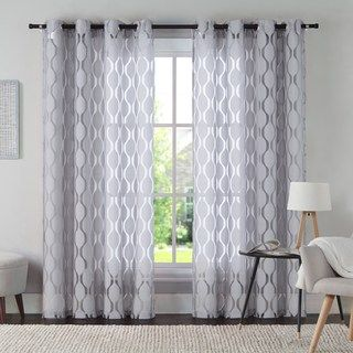 Vcny 1 Panel Aria Window Curtain Kohls In 2020 Panel Curtains