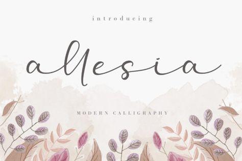 Allesia (Font) by AEN Creative Studio · Creative Fabrica