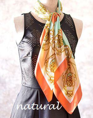 骨格診断ストレート ウェーブ ナチュラル タイプ別シルクスカーフの巻き方選び方 ファッション スカーフの巻き方 スカーフ