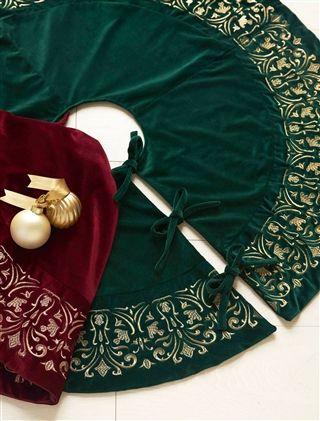 Luxueux Cache Pied Pour Sapin Artificiel En Velours Sapin Artificiel Sapin Et Decoration Noel