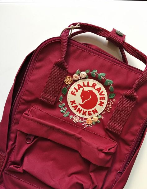 Customizable Fjallraven Kanken Hand Embroidery Backpack You can choose your favorite color from the Fjallraven Kanken website! *Mini Sky Blue - Mini Air Blue - Classic Pink is out of stock for a while.
