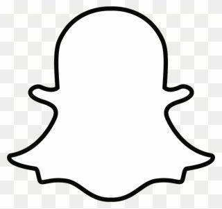 Snapchat Ghost Outline Transparent Png Snapchat Logo White Clipart Snapchat Logo Logo Outline Ghost Logo