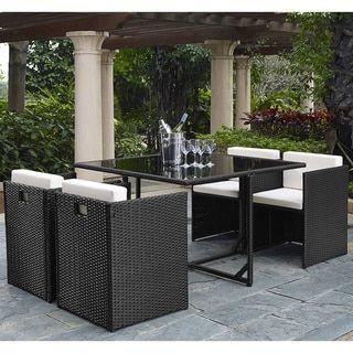 Marbella 5 Piece Outdoor Dining Set Garden Furniture Sets Wicker Dining Set Garden Patio Furniture