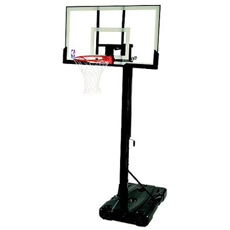 Spalding Nba Portable Screw Jack Basketball Hoop With 54 Polycarbonate Backboard Walmart Com Portable Basketball Hoop Basketball Systems Basketball Backboard