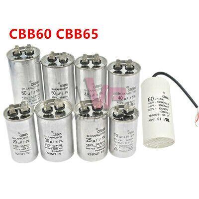 Cbb60 Cbb65 10 80uf 400 500v Motor Capacitor Compressor Air Conditioning Pump Air Conditioner Compressor Conditioner Electrical Equipment