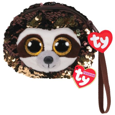 """Ty FLIPPABLES ~ DANGLER Sloth Changing Sequins 6/"""" Beanie Boos 2019 NEW ~IN HAND"""