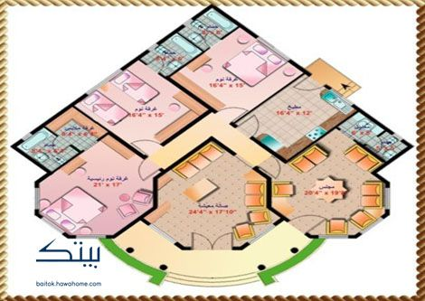 مخطط بيت شعبي دور واحد Home Map Design Minimal House Design Model House Plan