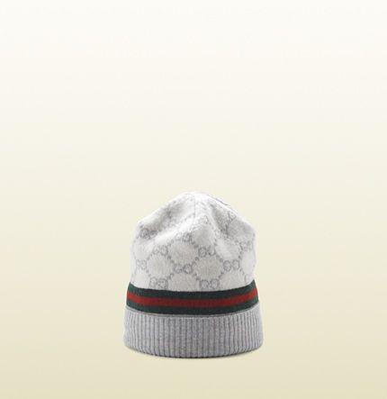 72b9640b Gucci - GG pattern hat with web detail. 2706433G8909263