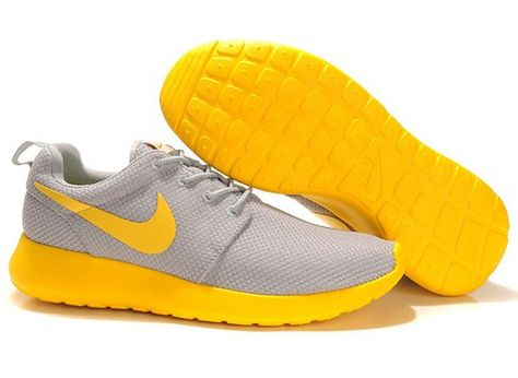 separation shoes d3c01 16fcc nikes 511881 024 roshe run mesh gray yellow men running shoes | Nike ...