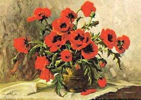 Art Print Mohnblumen Art Print By E Kruger By E Kruger 20x28in Poppy Art Art Prints Art