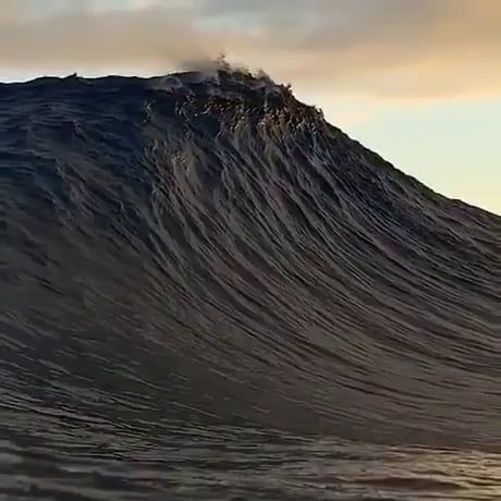 The way this wave crashes in slow-mo