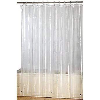Utopia Home Water Repellent Antibacterial And Mildew Resistant Fabric 72 Inch By 72 Inch Shower Curtain Clear Eva