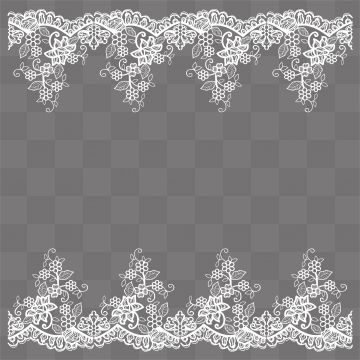 Lace Pattern Border Design Lace Vector Pattern Vector Border
