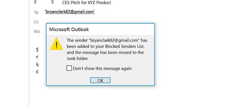 MIcrosoft's email software can block an individual sender or automatically filter anything that looks like spam.