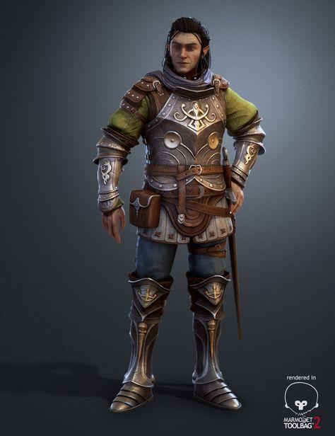 Elfe Warrior Marmoset Render, Pascal Ackermann on ArtStation at https://www.artstation.com/artwork/NxKyd