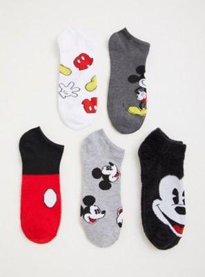 5 Pairs Disney Cartoon Mickey Mouse Cotton Socks Cute Funny Women Girl Fashion