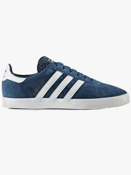 Adidas Originals 350 Suede Trainer Blue Night White Suede Trainers Adidas Adidas Gazelle Sneaker
