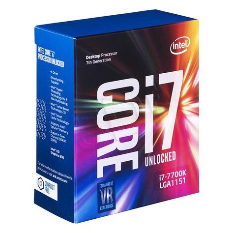 Intel Core I7 7700k 7th Gen Processor Kabylake 4 Core Lga1151 4 2ghz 8mb Cpu Intel Core I7 Intel Intel Core