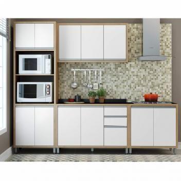 Cozinha Completo 4 Pecas Bahia Ditalia Moveis Diamond Branco