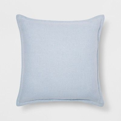Washed Cotton Linen Square Throw Pillow Light Blue Target Light Blue Throw Pillows Blue Throw Pillows Light Blue Pillows