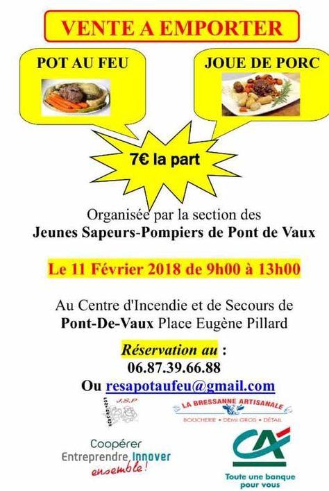 Vente De Plats Cuisines Des Jsp Le Dimanche 11 Fevrier A La