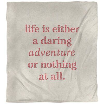 East Urban Home Quotes Handwritten Life Adventure Single Reversible Duvet Cover Polyester In White Red In 2021 Travel Love Quotes Rainbow Quote Life Adventure Quotes