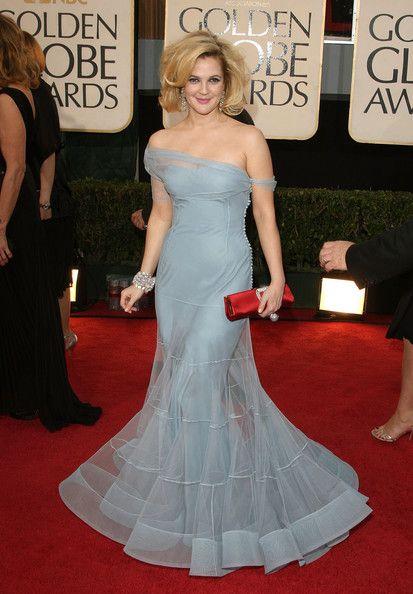 Drew Barrymore wearing John Galliano for Dior