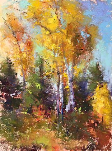 Fall Study 1 By Jacob Aguiar Pastel 8 X 6 Malerier