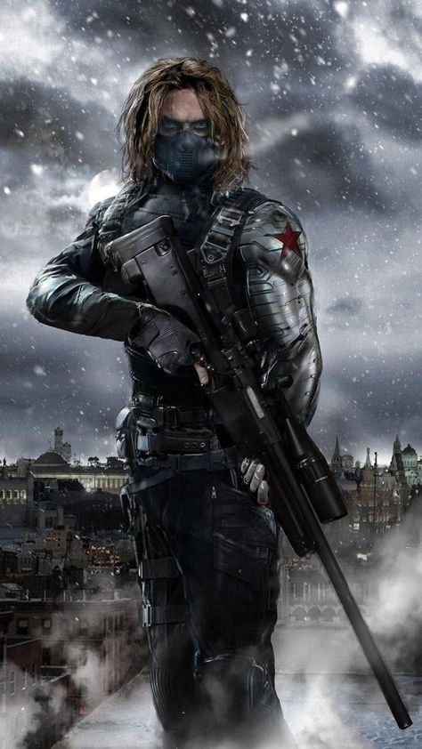Sebastain Stan as Bucky, The Winter Soldier!