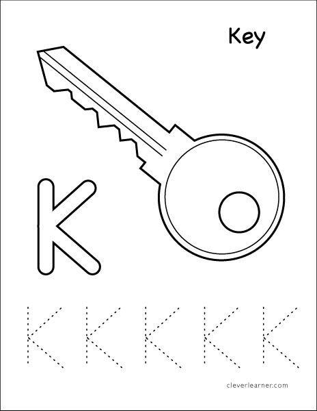 K Stands For Key Tracing Sheet Tracing Worksheets Preschool Tracing Worksheets Letter K