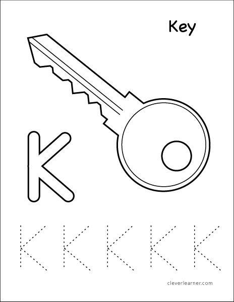 K Stands For Key Tracing Sheet Tracing Worksheets Preschool Tracing Worksheets Letter K
