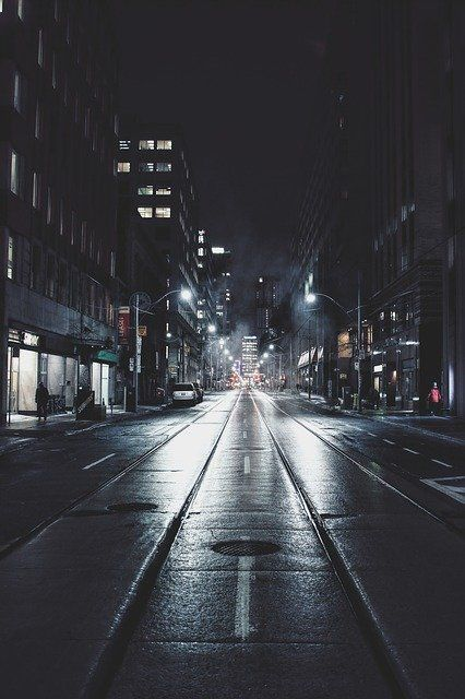 Free Image On Pixabay Night Street City Road Dark Street Pictures City Wallpaper Background Images