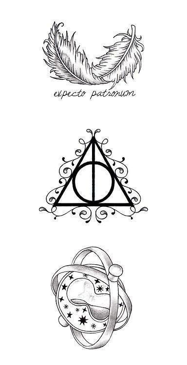 Harry Potter Symbols Symbols For My Hp Piece Harry Potter Kunst Harry Potter Tattoos Tattoo Erstellen