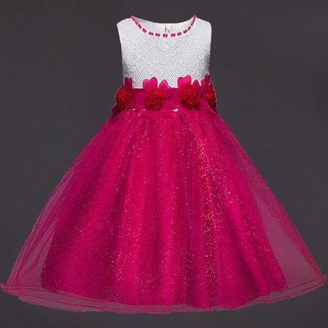 b60d8a1a62b Summer New Baby Girl Dress Kids Dresses for Girls Children Clothing Sequin  Sleeveless Princess Dress Girls Clothes