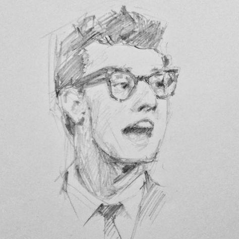 Artwork Portrait Drawing Erwin rachman wicaksono pencil sketch