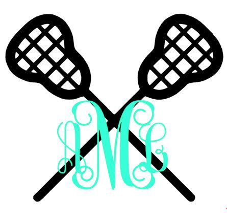 Lacrosse Monogram Vinyl Decal by The Initialed Life   Monogram Vinyl Decals,  Gifts, & Ideas   Pinterest   Lacrosse and Monograms