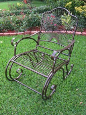 Sun Ray Outdoor Rocker In Wrought Iron Amazon Patio Lawn Garden