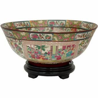 Floral Flared Decorative Bowl In 2020 Decorative Bowls Oriental Furniture Porcelain Bowl