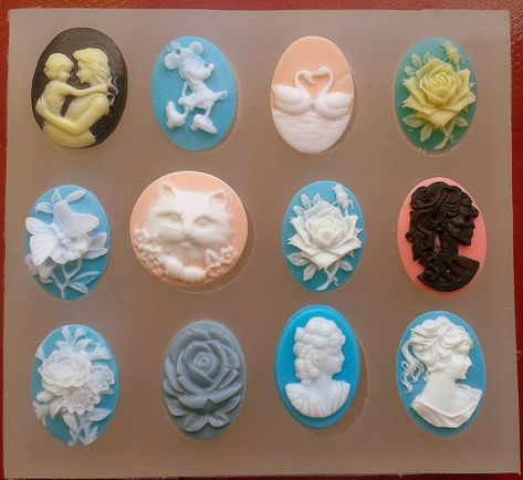 Cameo Fairy//Butterfly Lady Handmade Polymer Clay Mold