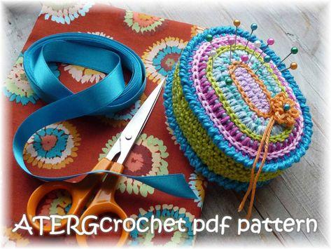Crochet pattern PINCUSHION OVAL by ATERGcrochet by ATERGcrochet, €2.75