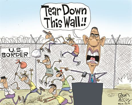 Image result for mexican american political cartoon border