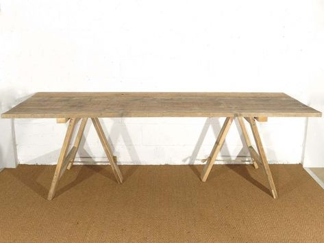 Vintage Furniture Hire Trestle Table Wooden Trestle Table