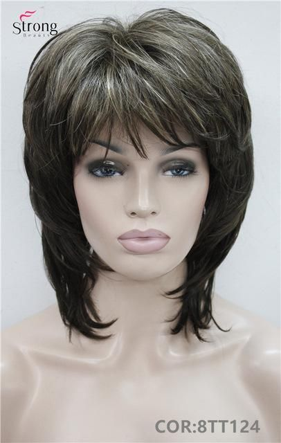 Short Shaggy Layered Copper Red Classic Cap Full Synthetic Wig Kanekalon Women S Wigs Colour Choices Thick Hair Styles Medium Hair Styles Hair Styles