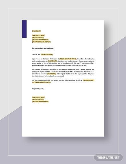 Business Data Analysis Report Template Free Pdf Google Docs Word Template Net Business Data Data Analysis Report Template