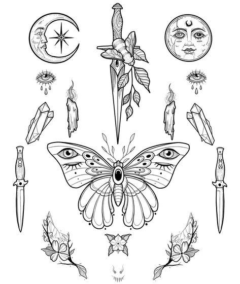 Mini Tattoos, New Tattoos, Small Tattoos, Tattoos For Guys, Badass Tattoos, Tatoos, Flash Art Tattoos, Blackwork, Tattoo Sketches